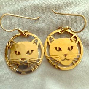 Wild Bryde Circular Cat Earrings